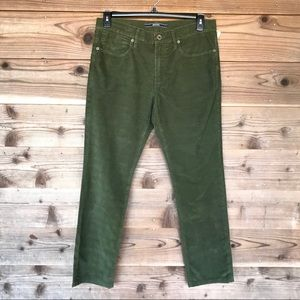 Incotex Ray Regular Brushed 5PKTS Pants Green 32